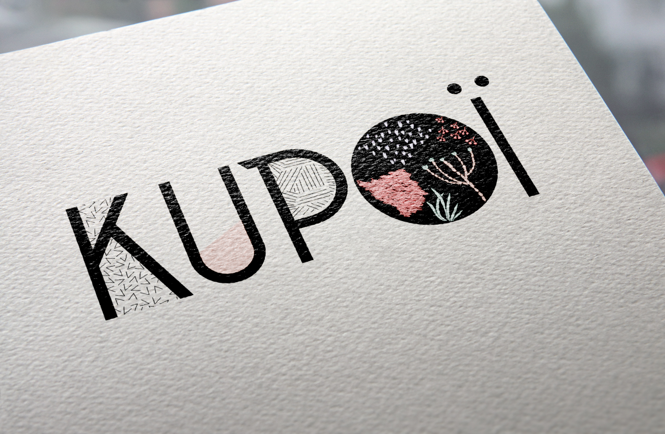 mock up logo kupoi