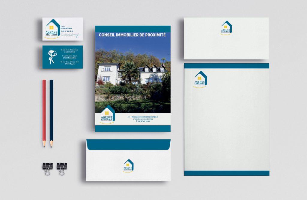 Identité visuelle Agence Centrale Immobilier